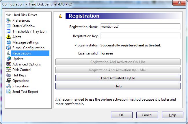 registration key hard disk sentinel 4.60 pro